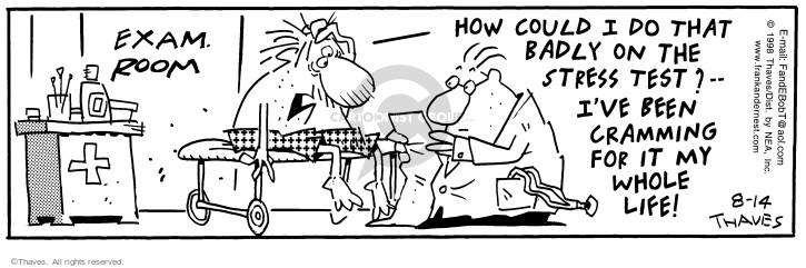 Cartoonist Bob Thaves Tom Thaves  Frank and Ernest 1998-08-14 medical