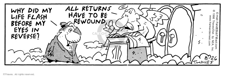 Comic Strip Bob Thaves Tom Thaves  Frank and Ernest 1998-08-26 check-in