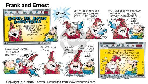 Cartoonist Bob Thaves Tom Thaves  Frank and Ernest 1998-08-30 web