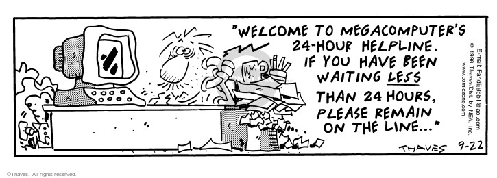 Comic Strip Bob Thaves Tom Thaves  Frank and Ernest 1998-09-22 telephone