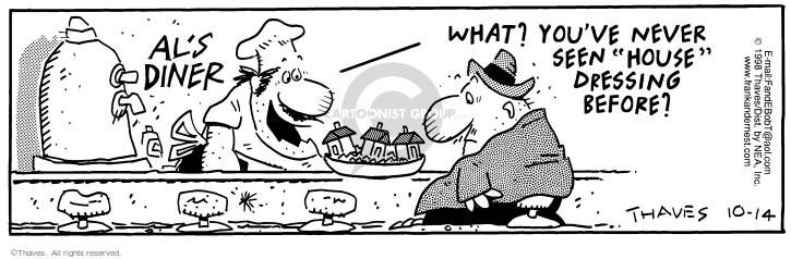 Cartoonist Bob Thaves Tom Thaves  Frank and Ernest 1998-10-14 literal