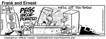 Comic Strip Bob Thaves Tom Thaves  Frank and Ernest 1998-11-23 employee