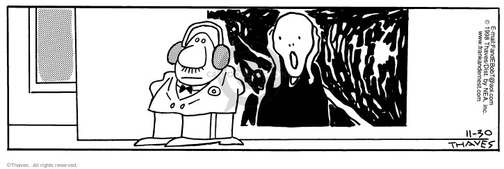 Comic Strip Bob Thaves Tom Thaves  Frank and Ernest 1998-11-30 scream