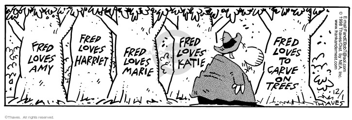 Comic Strip Bob Thaves Tom Thaves  Frank and Ernest 1998-12-01 affection