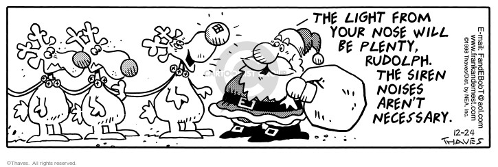 Comic Strip Bob Thaves Tom Thaves  Frank and Ernest 1998-12-24 sound