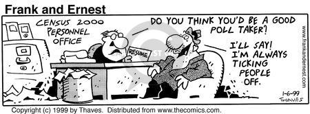 Comic Strip Bob Thaves Tom Thaves  Frank and Ernest 1999-01-06 employee