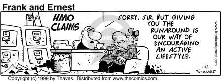 Comic Strip Bob Thaves Tom Thaves  Frank and Ernest 1999-01-12 lifestyle