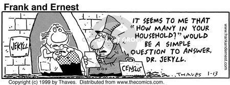 Comic Strip Bob Thaves Tom Thaves  Frank and Ernest 1999-01-13 split