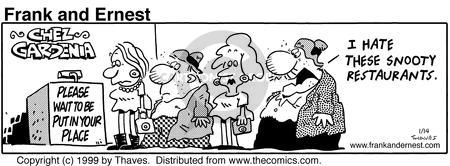 Comic Strip Bob Thaves Tom Thaves  Frank and Ernest 1999-01-14 atmosphere