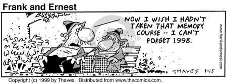 Comic Strip Bob Thaves Tom Thaves  Frank and Ernest 1999-01-15 class