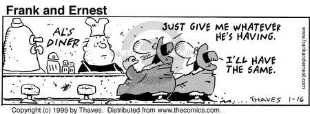 Cartoonist Bob Thaves Tom Thaves  Frank and Ernest 1999-01-16 communicate