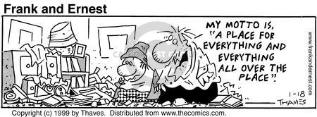 Cartoonist Bob Thaves Tom Thaves  Frank and Ernest 1999-01-18 phrase