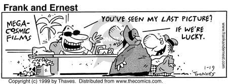 Cartoonist Bob Thaves Tom Thaves  Frank and Ernest 1999-01-19 lucky