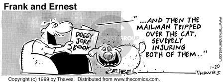 Comic Strip Bob Thaves Tom Thaves  Frank and Ernest 1999-01-20 cat owner