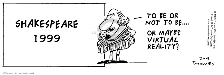 Cartoonist Bob Thaves Tom Thaves  Frank and Ernest 1999-02-04 phrase