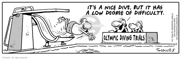 Cartoonist Bob Thaves Tom Thaves  Frank and Ernest 1999-04-01 athletics