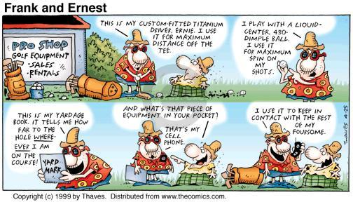 Cartoonist Bob Thaves Tom Thaves  Frank and Ernest 1999-04-25 golf tee