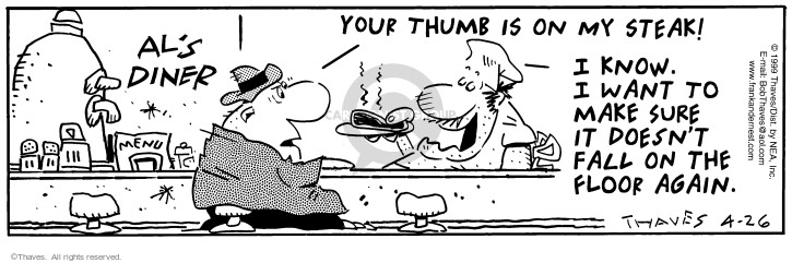 Comic Strip Bob Thaves Tom Thaves  Frank and Ernest 1999-04-26 lunch
