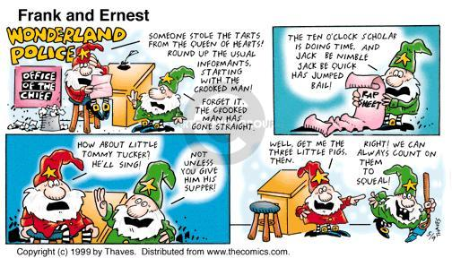 Cartoonist Bob Thaves Tom Thaves  Frank and Ernest 1999-05-09 pastry