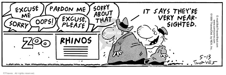 Comic Strip Bob Thaves Tom Thaves  Frank and Ernest 1999-05-13 view