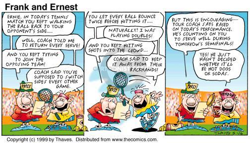 Comic Strip Bob Thaves Tom Thaves  Frank and Ernest 1999-05-16 performance