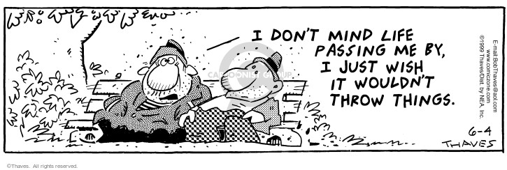 Comic Strip Bob Thaves Tom Thaves  Frank and Ernest 1999-06-04 insult