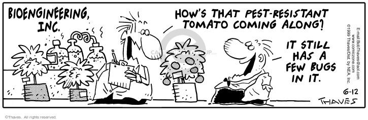 Comic Strip Bob Thaves Tom Thaves  Frank and Ernest 1999-06-12 workshop