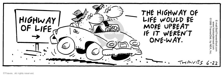 Comic Strip Bob Thaves Tom Thaves  Frank and Ernest 1999-06-22 convertible