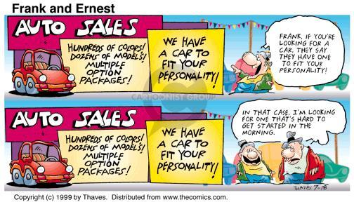 Comic Strip Bob Thaves Tom Thaves  Frank and Ernest 1999-07-18 automobile energy