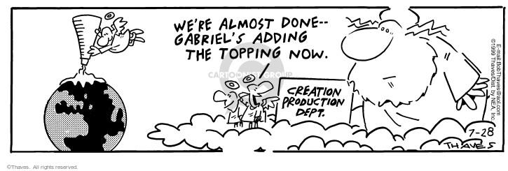 Comic Strip Bob Thaves Tom Thaves  Frank and Ernest 1999-07-28 effort