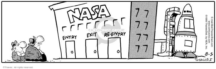 Comic Strip Bob Thaves Tom Thaves  Frank and Ernest 1999-08-05 NASA