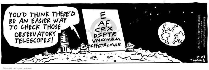 Comic Strip Bob Thaves Tom Thaves  Frank and Ernest 1999-08-23 equipment