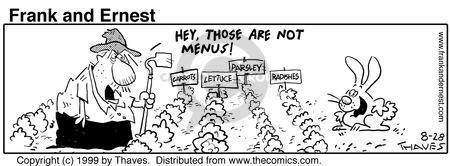 Comic Strip Bob Thaves Tom Thaves  Frank and Ernest 1999-08-28 vegetable
