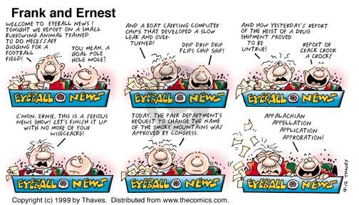Comic Strip Bob Thaves Tom Thaves  Frank and Ernest 1999-09-12 today