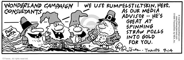 Comic Strip Bob Thaves Tom Thaves  Frank and Ernest 1999-09-14 politics
