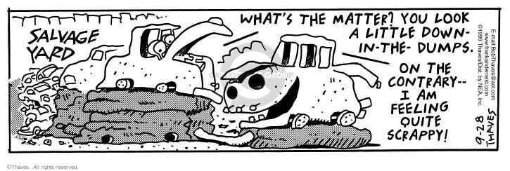 Cartoonist Bob Thaves Tom Thaves  Frank and Ernest 1999-09-28 dump