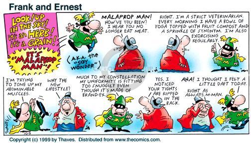 Comic Strip Bob Thaves Tom Thaves  Frank and Ernest 1999-10-03 uniform