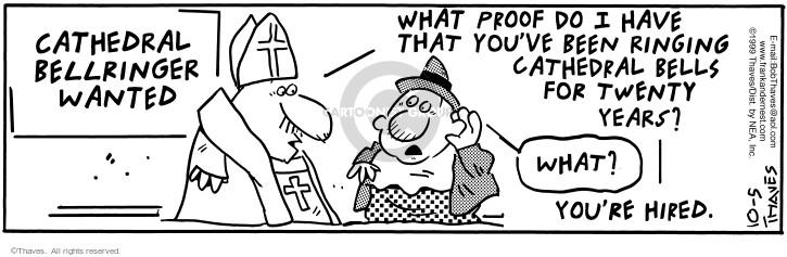Comic Strip Bob Thaves Tom Thaves  Frank and Ernest 1999-10-05 deaf