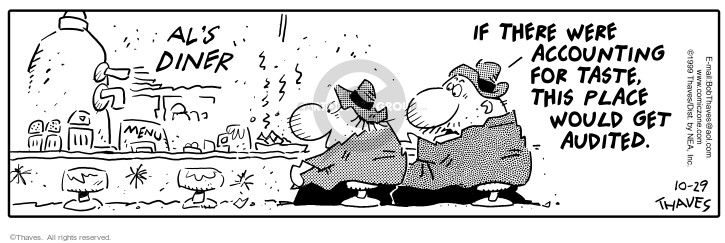 Comic Strip Bob Thaves Tom Thaves  Frank and Ernest 1999-10-29 lunch