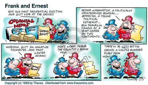 Comic Strip Bob Thaves Tom Thaves  Frank and Ernest 1999-11-07 youngster