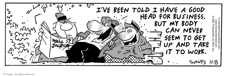Comic Strip Bob Thaves Tom Thaves  Frank and Ernest 1999-11-08 aptitude