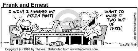 Comic Strip Bob Thaves Tom Thaves  Frank and Ernest 1999-11-13 food quantity