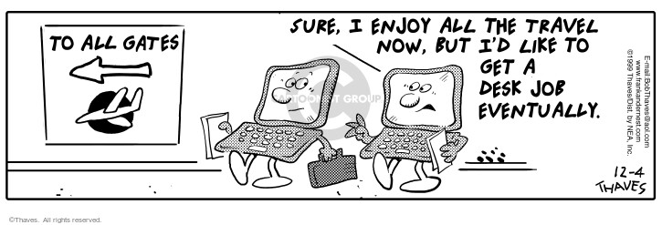 Comic Strip Bob Thaves Tom Thaves  Frank and Ernest 1999-12-04 computer monitor