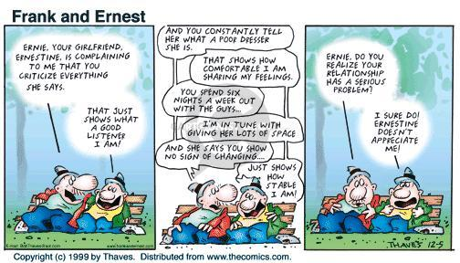 Comic Strip Bob Thaves Tom Thaves  Frank and Ernest 1999-12-05 tune