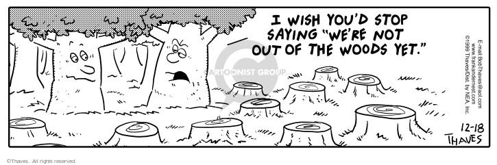 Cartoonist Bob Thaves Tom Thaves  Frank and Ernest 1999-12-18 stump