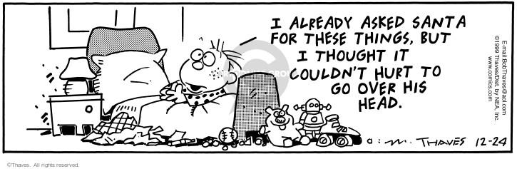 Cartoonist Bob Thaves Tom Thaves  Frank and Ernest 1999-12-24 hurt