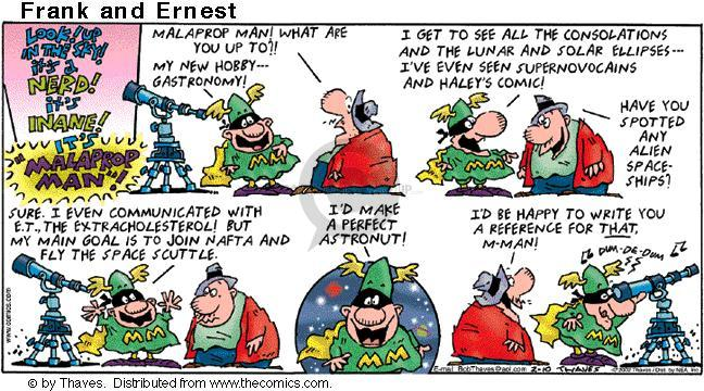 Comic Strip Bob Thaves Tom Thaves  Frank and Ernest 2002-02-10 NAFTA