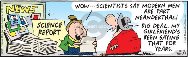 Comic Strip Bob Thaves Tom Thaves  Frank and Ernest 2011-10-19 genetic science