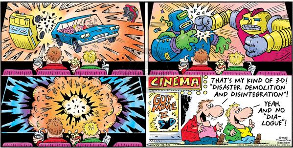 Comic Strip Bob Thaves Tom Thaves  Frank and Ernest 2011-10-30 disaster
