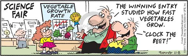 Comic Strip Bob Thaves Tom Thaves  Frank and Ernest 2011-11-08 science fair